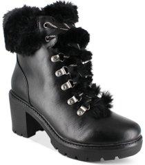 esprit ember faux-fur lug sole booties women's shoes