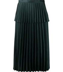 comme des garçons noir kei ninomiya layered pleated satin skirt -