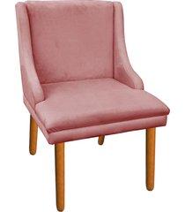 cadeira sala de jantar liz suede rose - d'rossi