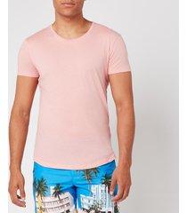 orlebar brown men's ob-t tailored fit crew neck t-shirt - sundown pink - xl