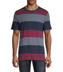 french connection men's dragged striped t-shirt - dark denim - size xl