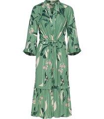 belle dr jurk knielengte groen part two