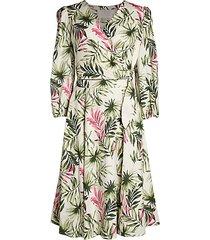 2-piece palm leaf wrap dress