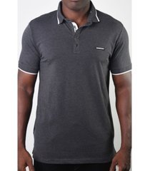 members only men's basic short sleeve snap button polo