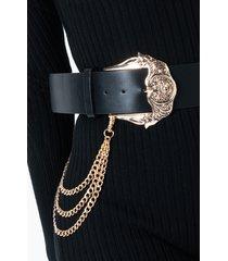 akira beautiful liar double buckle chain belt