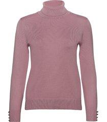 pullover-knit light turtleneck polotröja rosa brandtex