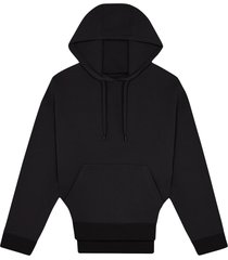 fenty rounded cutout hoodie - black