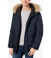 calvin klein men's snorkel jacket with faux-fur trim
