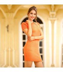 vestidos de lápiz de manga corta para mujer vestido de punto vestido mujer