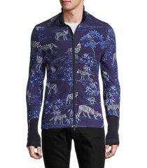 greyson men's printed full-zip jacket - maltese - size m