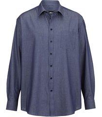 overhemd men plus jeansblauw