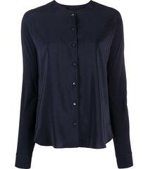 aspesi silk tunic blouse - blue