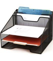 mind reader mesh desk organizer 5 trays desktop document letter tray for folders, mail, stationary, desk accessories