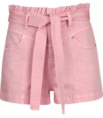 denim short isola  roze