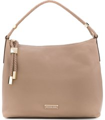 michael michael kors braided trim tote - neutrals