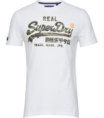 vintage logo camo infill tee t-shirts short-sleeved vit superdry