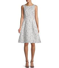 textured silk & cotton-blend dress