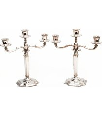 conjunto de candelabros em prata - incolor - dafiti