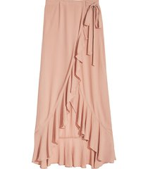 weworewhat women's mia maxi skirt - maple sugar - size xl