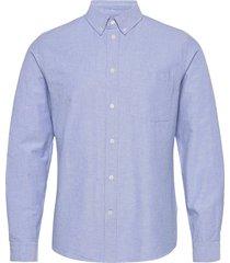 adam oxford shirt skjorta casual blå wood wood