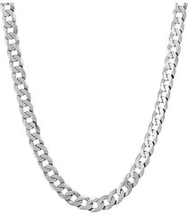 basic sterling silver curb necklace/22""