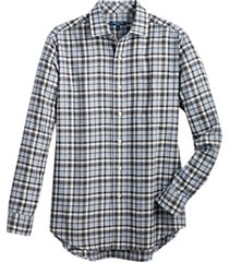 cole haan grand.øs. light blue plaid sport shirt