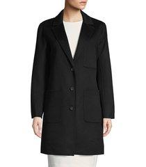 rebecca minkoff women's allegra wool-blend coat - black - size xs