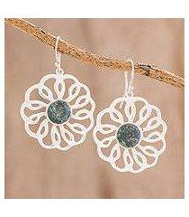 jade dangle earrings, 'nature's grace' (guatemala)