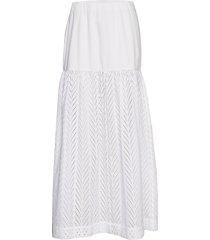 rodebjer amalthea embroidery knälång kjol vit rodebjer