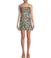 parker women's julie floral silk-blend dress - cannes floral - size 0