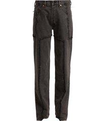 vetements x levi's frayed denim jeans