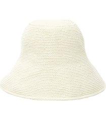 white crochet bucket hat