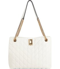 lafayette quilted leather tote