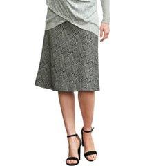 women's maternal america print a-line maternity skirt