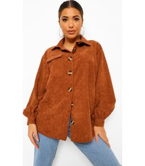 oversized corduroy overhemd, chocolate
