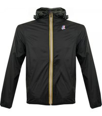 k-way claude le vrai 3.0 black pac-a-mac jacket k004bd0