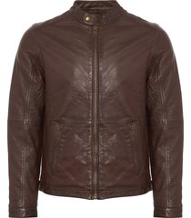human scales pete brown leather jacket 103