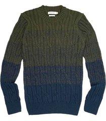 suéter degrade trenza para hombre 04072