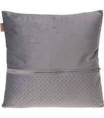poduszka dekoracyjna z suwakiem szara