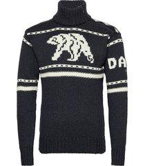 isbjørn uni sweater knitwear turtlenecks blauw dale of norway