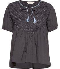 darya blouse blouses short-sleeved zwart odd molly