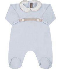 little bear light blue babygrow for babyboy with belt