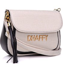 bolsa dhaffy bolsas palha com bolso preto