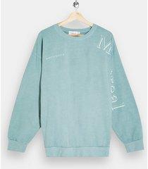 mens grey green montreal sleeve sweatshirt