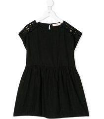 andorine stud-embellished linen dress - black