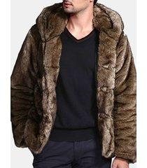 giacca in pelliccia sintetica per uomo winter warm sottile vestibilità giacca casual