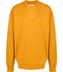 a-cold-wall* software print sweatshirt - yellow