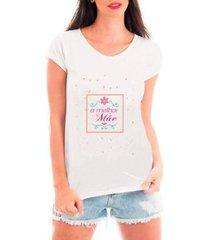 blusa criativa urbana dia das mães melhor mãe t-shirt feminina - feminino