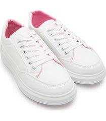 tenis blancos interior rosa color blanco, talla 39
