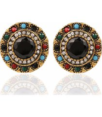 bohemian orecchio stud orecchioring rhinestone flower colorful piercing in resina orecchioring ethnic jewelyr per donna